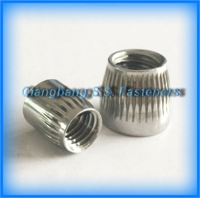 Knurled cone  conical nut   cone nut   conical nut   tapered nut    taper nut