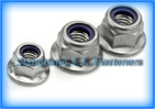 flange nylon lock  nut   GB6183   nylon lock with flange nut